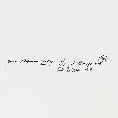 Eric b. johnson, photograph signed on verso.