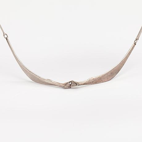"""Zoltan popovits, a stelring silver necklace """"bellatrix"""". lapponia 1979."""