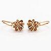 A pair of 14k gold earrings with diamonds ca. 0.08 ct in total. kupittaan kulta, turku.