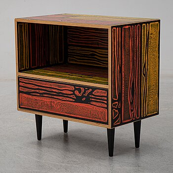 "Sebastian Wrong & Richard Woods, ""WrongWood solo drawerer cabinet"", Established & Sons, 2007."