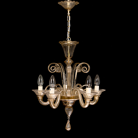 A murano glass chandelier, cesare toso, italy, mid-20th century.