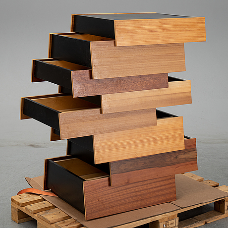 "Raw edges and shay alkalay, ""stack 8 drawers"", established and sons 2008."