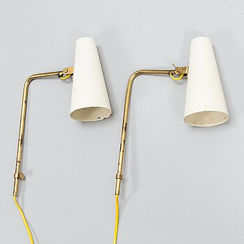 PAAVO TYNELL, Two mid-20th century '9459' wall lights for Taito.
