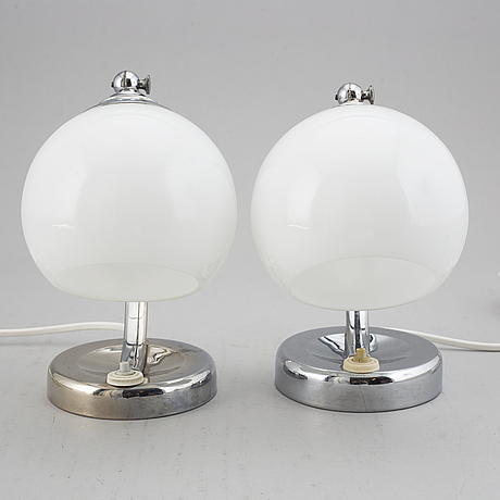 A pair of table lamps, 1930's.