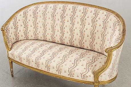 Soffa, sk badkarssoffa, gustaviansk stil, 1900-talets första hälft.