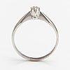 Ring, 14k vitguld, diamant ca 0.10 ct. laatukoru, hyvinge 2011.