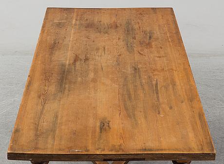 A pine table, circa 1900.