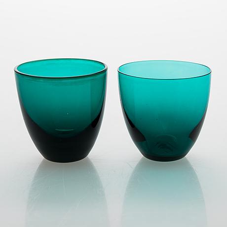 "Nanny still, a carafe with 12 glasses ""nukkumatti"" from 50/60's by riihimäen lasi."