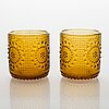 Nanny still, a set of 'grapponia' 12 glasses, riihimäen lasi, finland 1960s.
