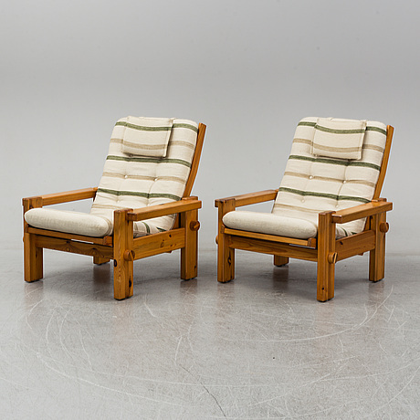 Yngve ekstrÖm, a pair of easy chairs, swedese.