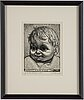 "Eduard wiiralt, wood engraving, signed ""gr. sur bois 1936 epr. d'artiste"" e. wiiralt in pencil."