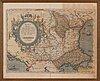 Abraham ortelius, karta, 1584, kolorerad.