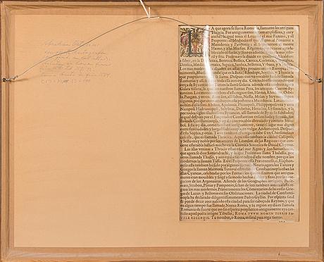 Abraham ortelius, map, 1584, coloured.