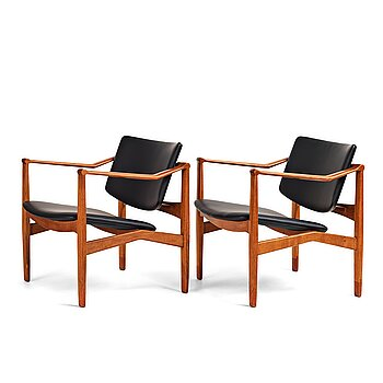 William Watting, a pair of armchairs, Denmark 1960's.