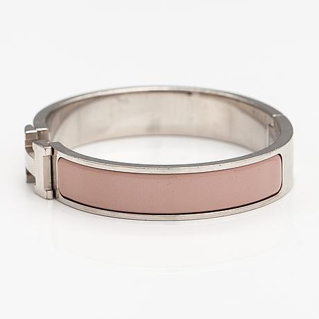 "HermÈs, armband ""click h"" märkt hermés o, made in france."