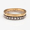 An 18k gold ring with diamonds ca. 0.18 ct in total.