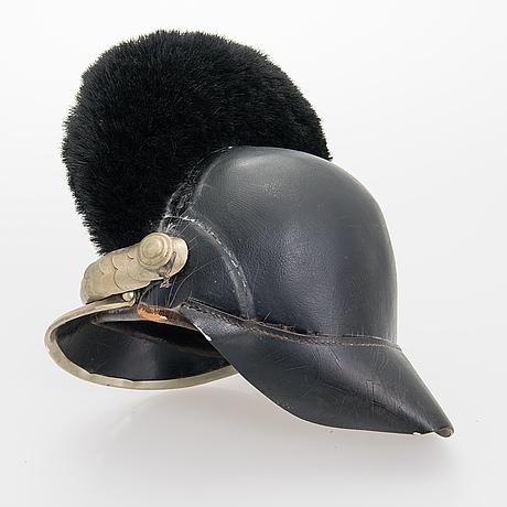 An imperial russian dragoon helmet, 1910s.