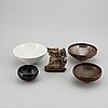 A group of five chinese objects, song dynasty and later.