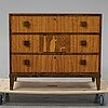 A birch veneered chest of drawers, 1930's.