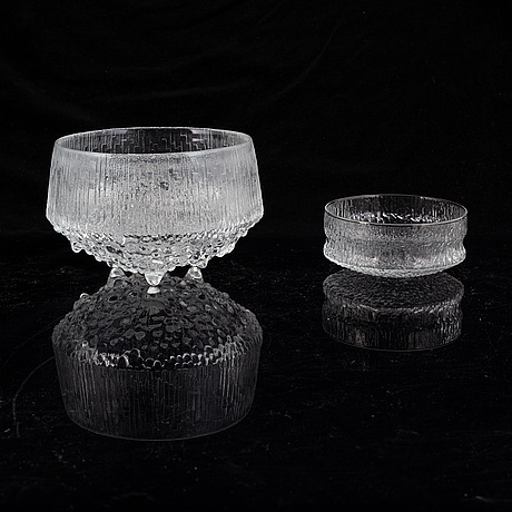 Tapio wirkkala, glass ware, 42 pieces.