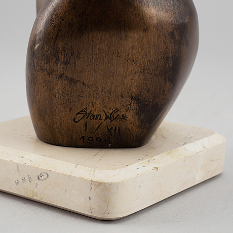 Stan wys, sculpture. bronze, signed, numbered 1/xii and dated 1996.