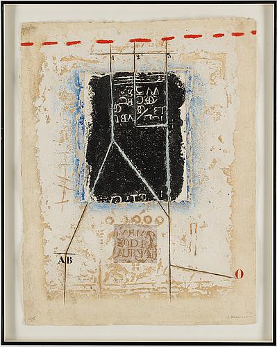 James coignard, carborundum etching, 1984, signed 4/75.