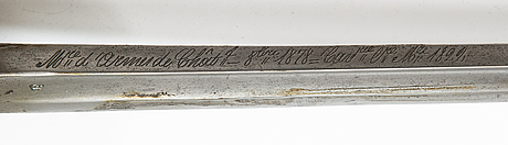 A french saber, model 1822.