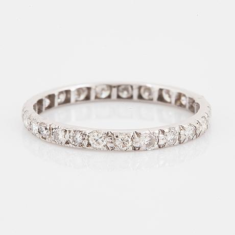 White gold brilliant-cut diamond eternity ring.