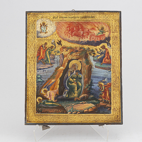A russian icon, 19th century.
