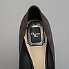 Christian dior, a pair of suede pumps, size 40.