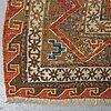 A rug, an antique caucasian soumak, ca 261,5-273 x 171-185 cm.