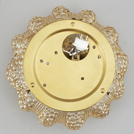 A glass ceiling light, probably limburg, germany, second half of the 20th century.