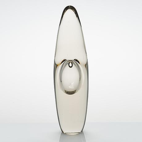 Timo sarpaneva, a glass sculpture signed timo sarpaneva 3568.