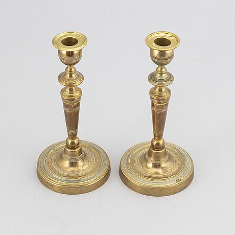 Ljustakar, ett par, förgylld brons, louis seize, sent 1700-tal.