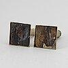 Ljusstakar, ett par, brons, gustavianska, sent 1700-tal.