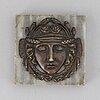 Brevpress, brons och marmor, empire, 1800-talets första hälft.