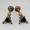 Ljusstakar, ett par, brons, 1600-/1700-tal.