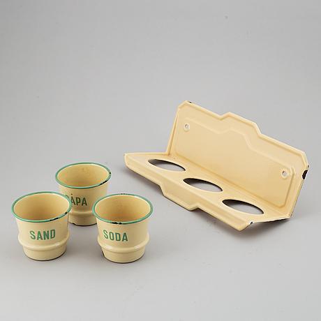 VÄggstÄll, kockums, emalj, 1900-talets första hälft.