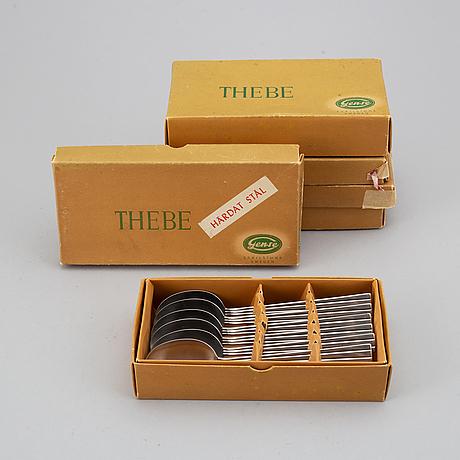 "Folke arstrÖm, bestick, 36 delar, ""thebe"", gense, sverige, 1950-/1960-tal."