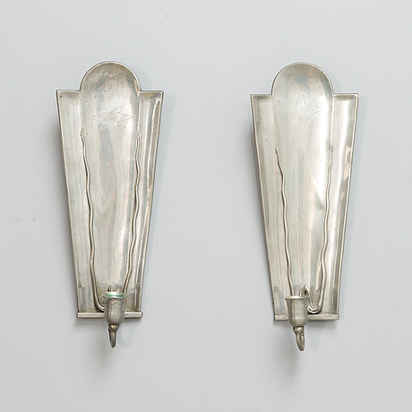 A pair of finnish 1930s sconces for taidetakomo antti hakkarainen.