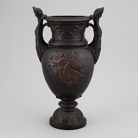 Urna, terrakotta, 1800-tal.