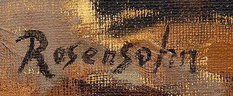 Lennart rosensohn, oil on canvas signed.