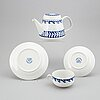 Carl-harry stÅlhane, a 'swedish blue' tea service, rörstrand, mid 20th century (25 pieces).