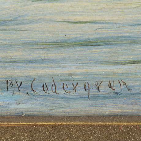Per wilhelm cedergren, olja på papp-pannå, signerad.