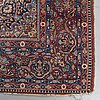 A carpet, semi-antique kashan, possibly dabir, ca 201 x 135,5 cm.