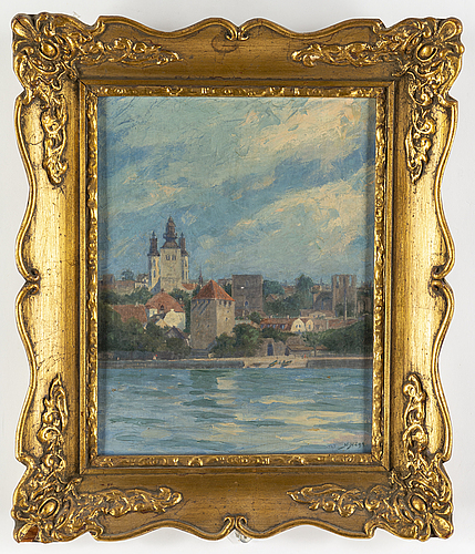 Herman hÄgg, oil on canvas signed and dated 1927.