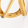 Riipus, 14k kultaa, timantti n. 0.025 ct.