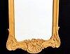 Spegel, rokoko-stil, 1900-talets mitt signerad.
