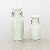 Golvvaser 2 st kina 1800-tal porslin.