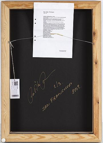 Per-Åke persson, c-print, signerat à tergo per-Åke p, daterat 2002 och numrerat 2/3.